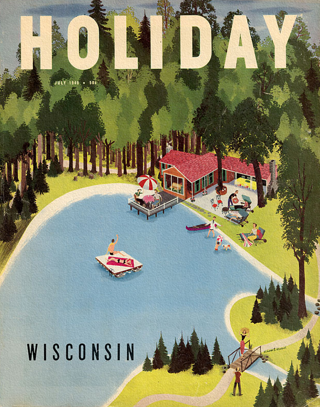 Holiday magazine cover July 1949