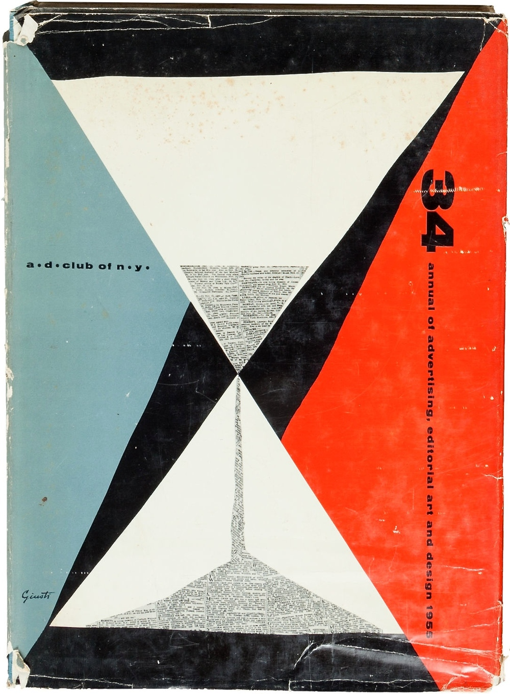 Annual of Advertising and Editorial Art 34 from the Art Directors' Club of New York. 1955. Jacket design by George Giusti.