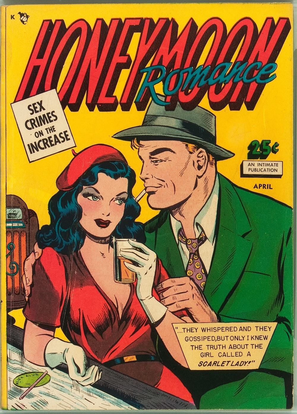 The seamy side of love: Honeymoon Romances #1 (Artful Publications, 1950)  via