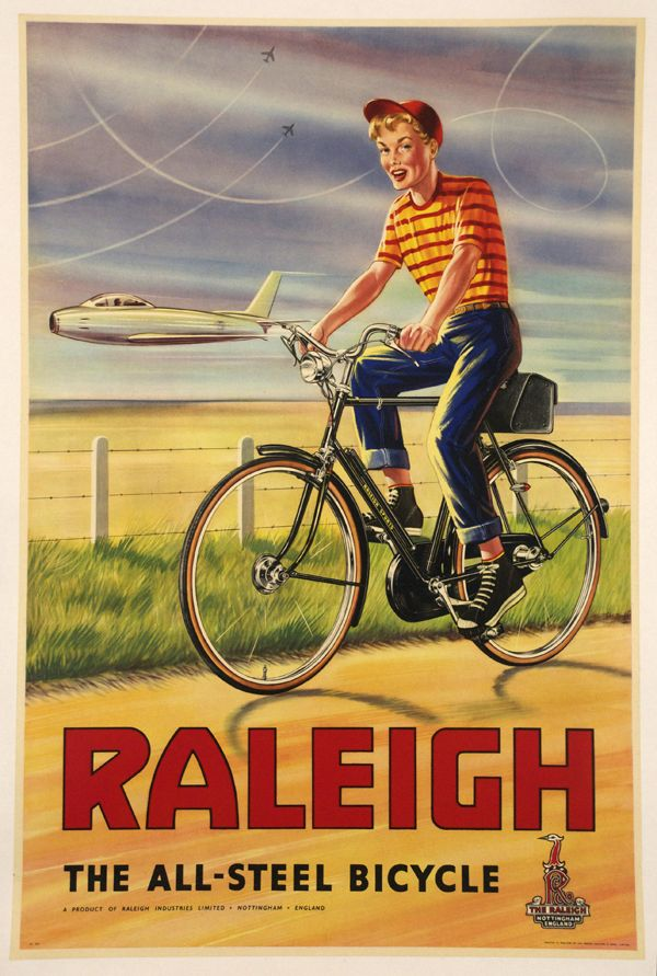Vintage Raleigh bicycle poster, date unknown
