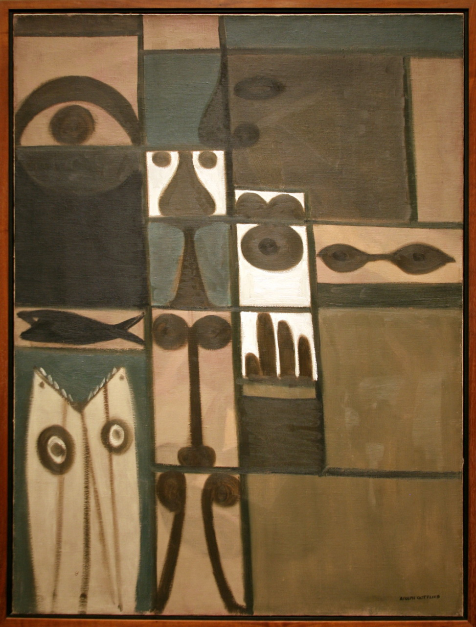 Pictograph, 1942, oil on canvas by Adolph Gottlieb via