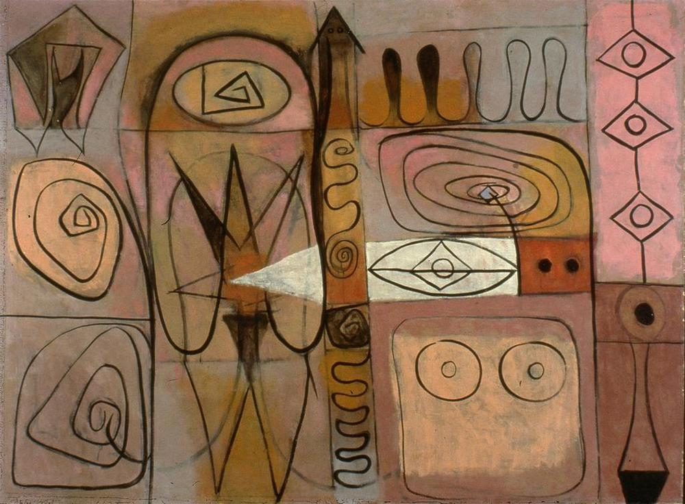 Pictograph, Adolph Gottlieb, 1946, oil on canvas