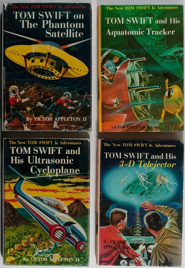 Four Tom Swift books.  Grosset & Dunlap, 1956-1964. Two volumes in dj. Very good or better condition.