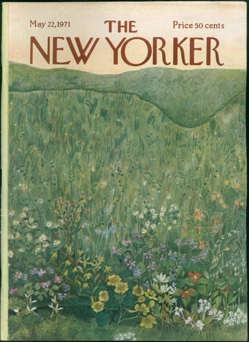 The New Yorker May 22, 1971 | Ilonka Karasz via  THE JUMPING FROG
