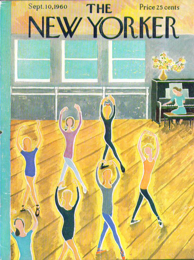 The New Yorker September 1960 | Ilonka Karasz via THE JUMPING FROG