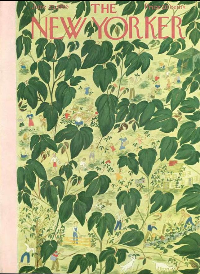 Poison Ivy | The New Yorker June 1955 | Ilonka Karasz