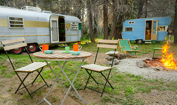 These are the vintage trailers that rented as a pair.