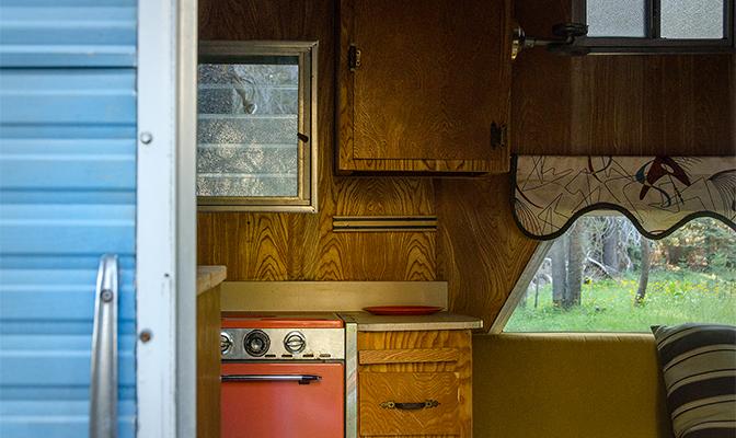A peek inside the trailer