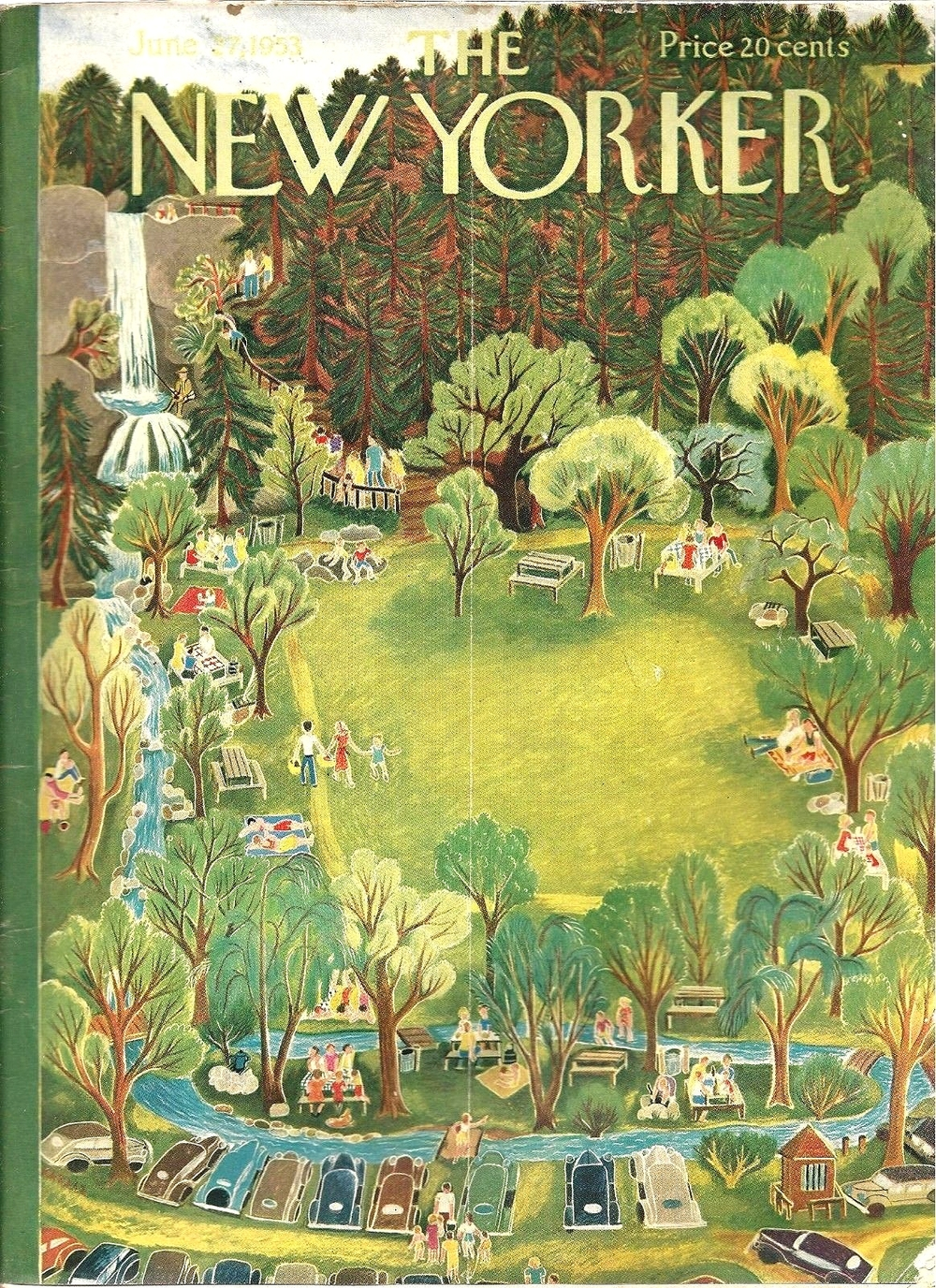 The New Yorker June 1953 | Ilonka Karasz via THE JUMPING FROG
