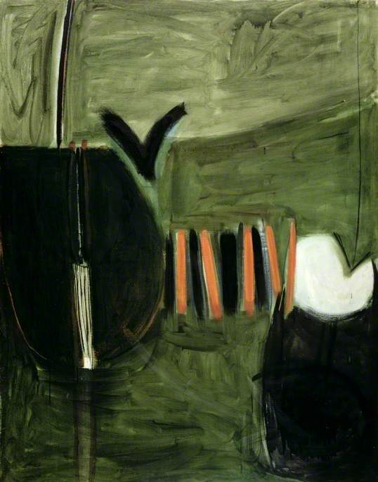 Force 8 by Terry Frost Ferens Art Gallery 1960 Oil on canvas, 221 x 173 cm