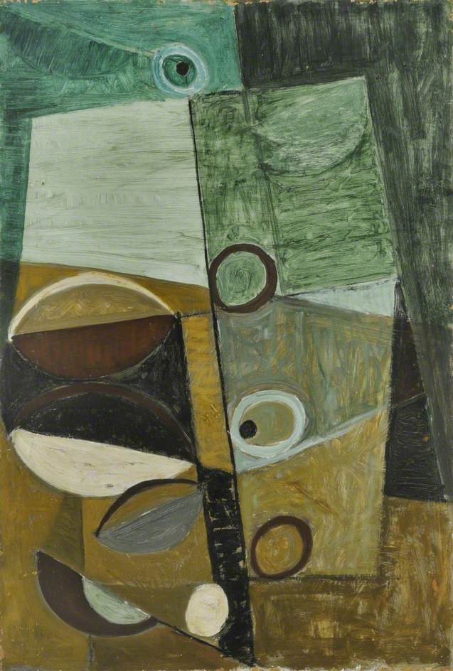 Green and Maroon Movement by Terry Frost 1952 Museums Sheffield via BBC UK