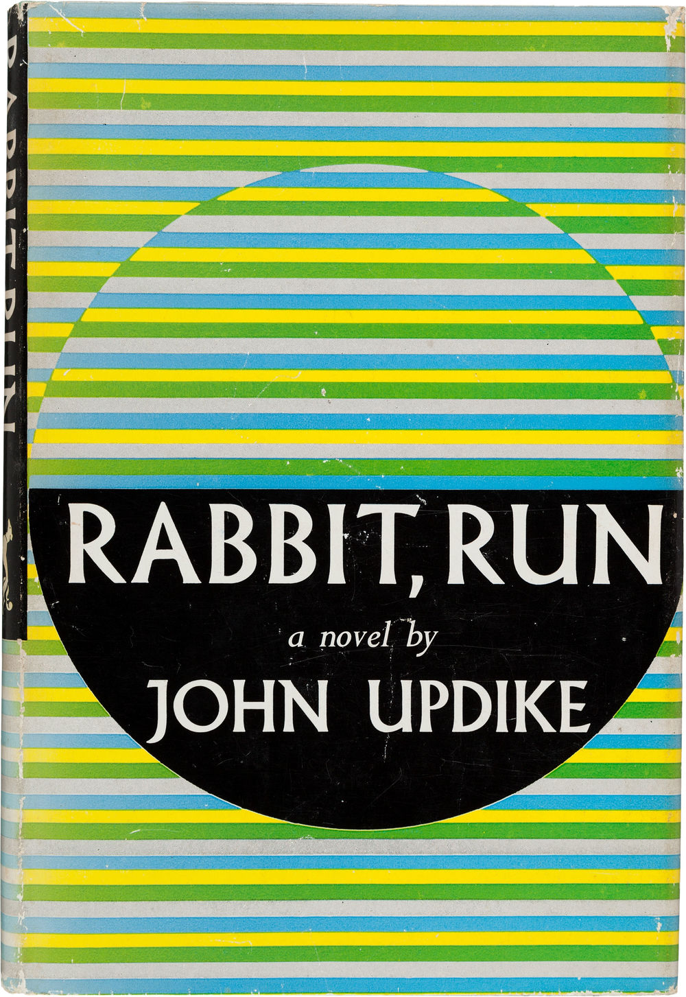 John Updike.      Rabbit, Run.    New York: Knopf, 1960. First edition. This particular copy is signed by the author and will be auctioned on Heritage Auctions on April 2nd.