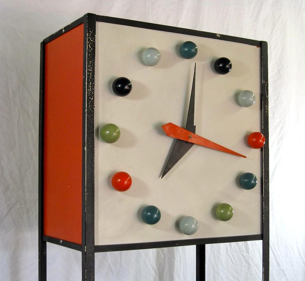 Rare Frederick Weinberg Shelf Clock 1950 via