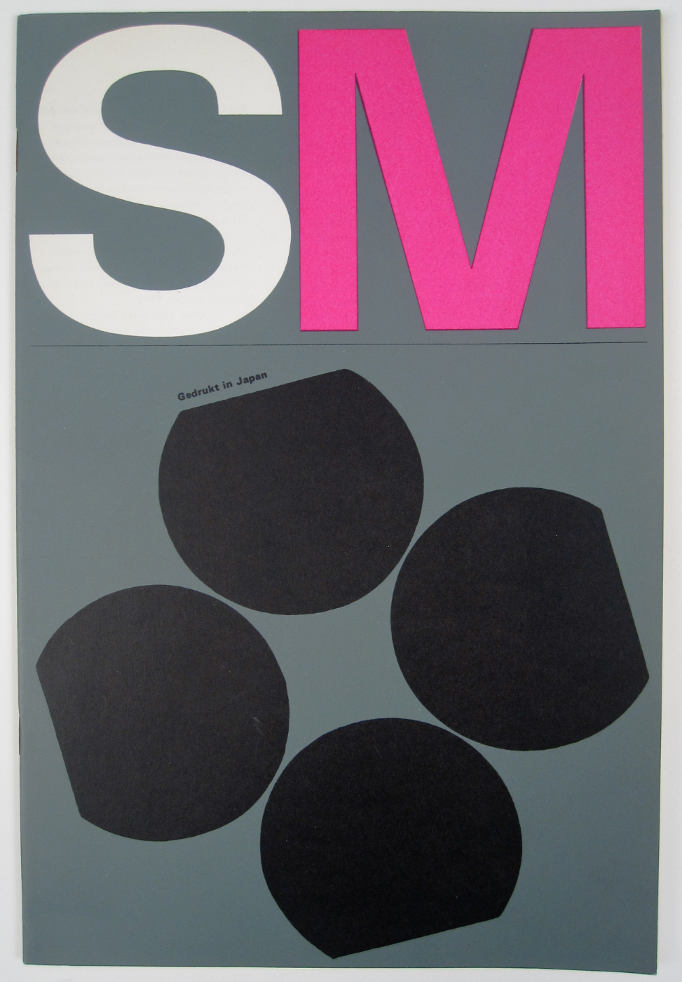 "Cover of the ""Gedrukt in Japan"" exhibition catalog from the Stedelijk Museum, designed by Wim Crouwel, Total Design, 1967"