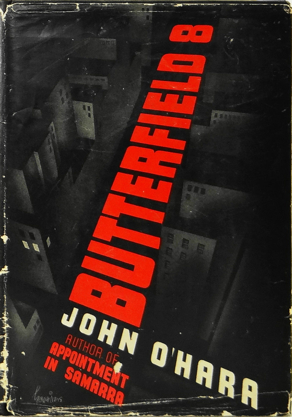 Butterfield 8 1935 signed first edition via  eBay . Cover by Arthur Hawkins, Jr.