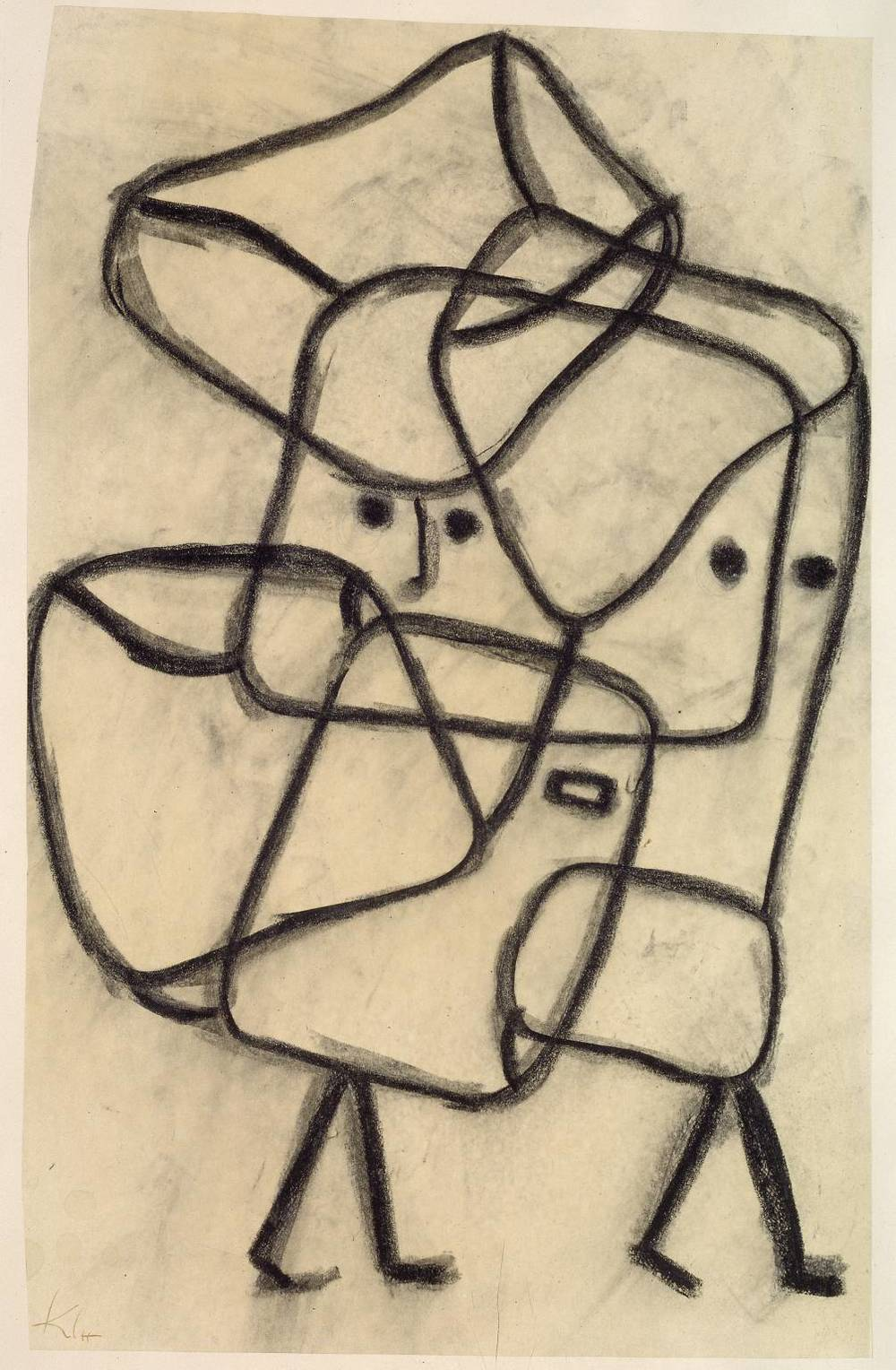 Burdened Children 1930Paul Klee 1879-1940 Bequeathed by Elly Kahnweiler 1991 to form part of the gift of Gustav and Elly Kahnweiler, accessioned 1994 via Tate.org