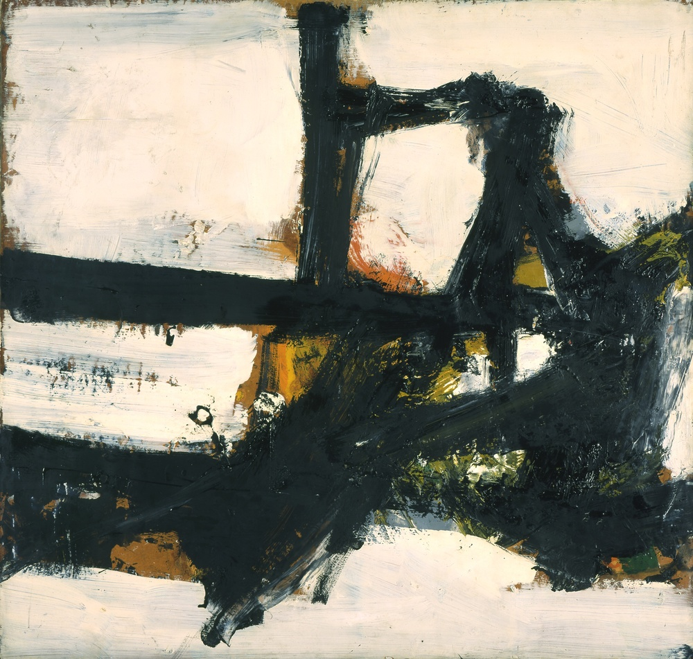 Franz Kline | Orange Outline 1955. Oil on paperboard mounted on canvas  38 x 40 in. (96.5 x 101.6 cm)