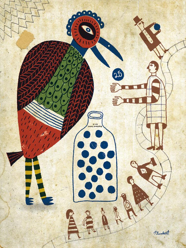 What do birds do for us by David Plunkert. Audubon Magazine.