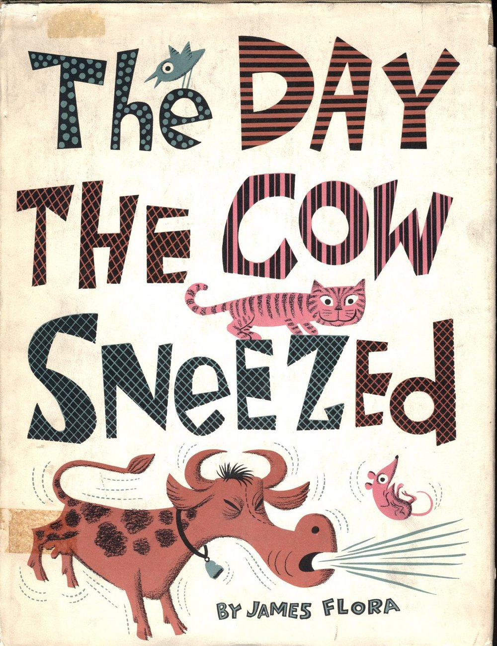Jim Flora | The Day the Cow Sneezed via  Stickers and Stuff