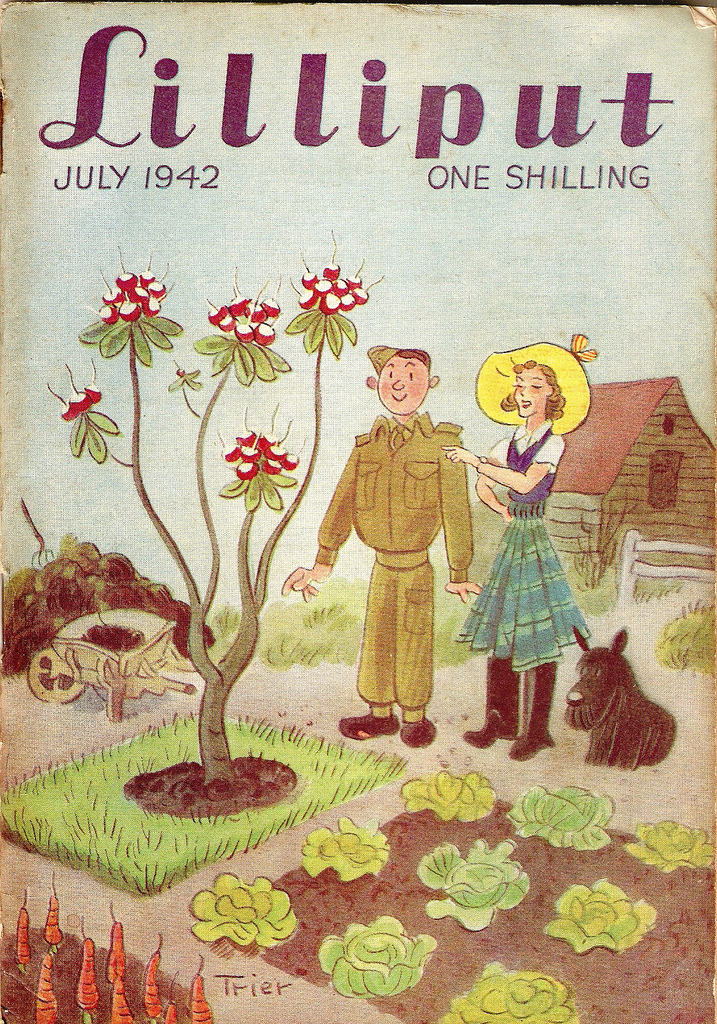 Lilliput Magazine cover by Walter Trier, July 1942