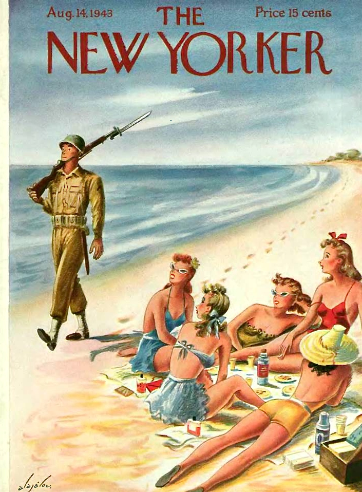 The New Yorker August 1943. Cover by Constantin Alajalov