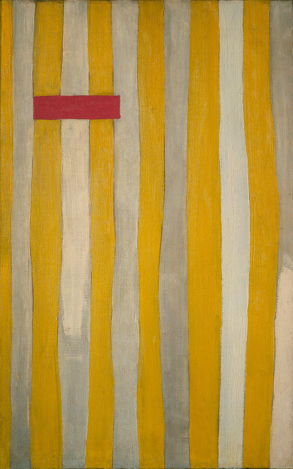 ROBERT MOTHERWELL The Little Spanish Prison, 1941 -1944 | Oil on canvas 27 1/4 × 17 1/8 in | 69.2 × 43.5 cm