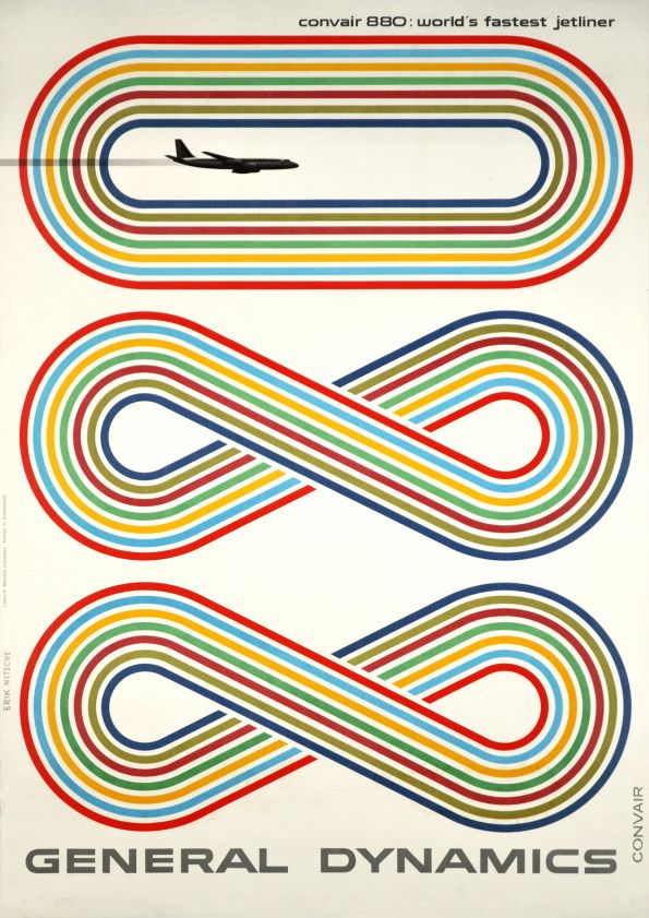 Poster for General Dynamics, Convair 880: world's fastest jetliner, 1959 via  galerie123.com