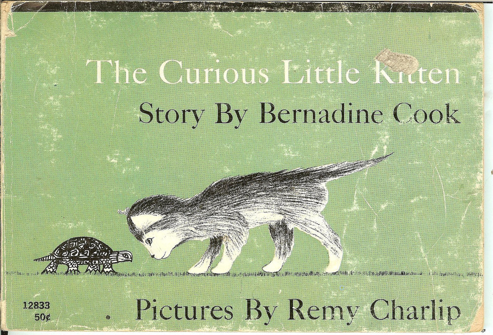 The Curious little Kitten By Bernadine Cook. Illustrated by Remy Charlip 1970. $3 here.