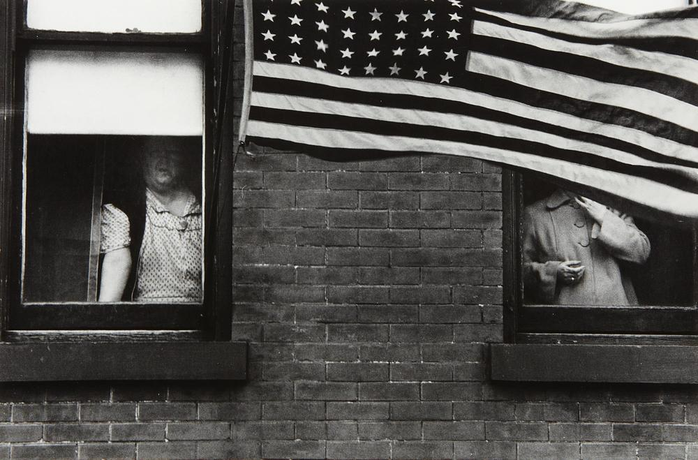 Parade, Hoboken, New Jersey by Robert Frank 1955  via