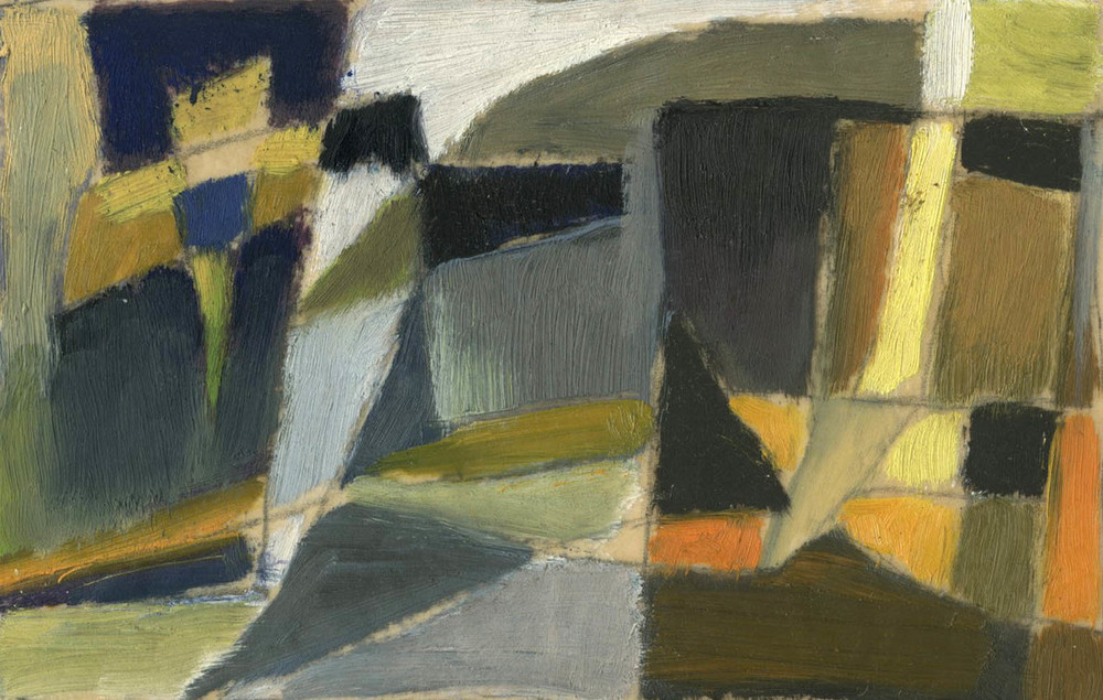 Untitled (Abstraction), Werner Drewes, Oil on vellum, via Richard Norton Gallery