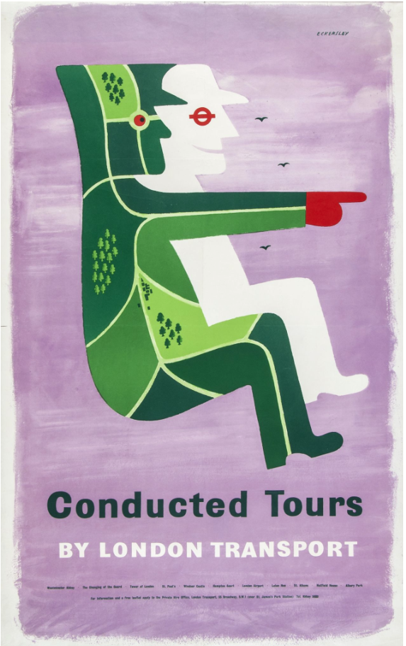 Tom Eckersley  (1914-1997) CONDUCTED TOURS Sold for £90