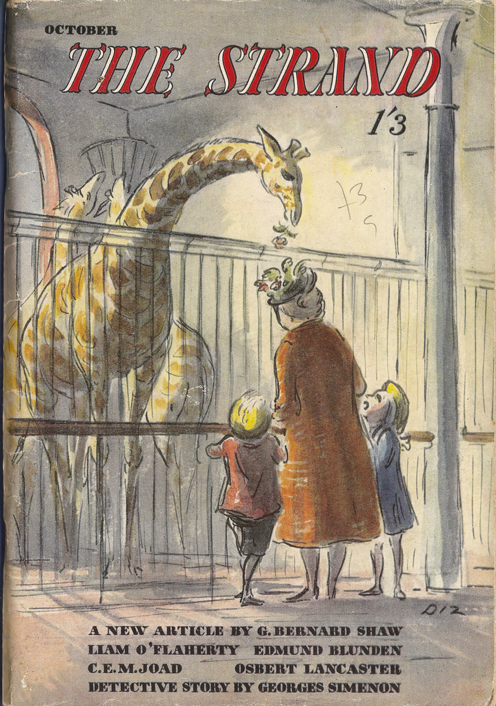 The Strand Magazine - October 1947 - cover by Edward Ardizzone. Via flickr
