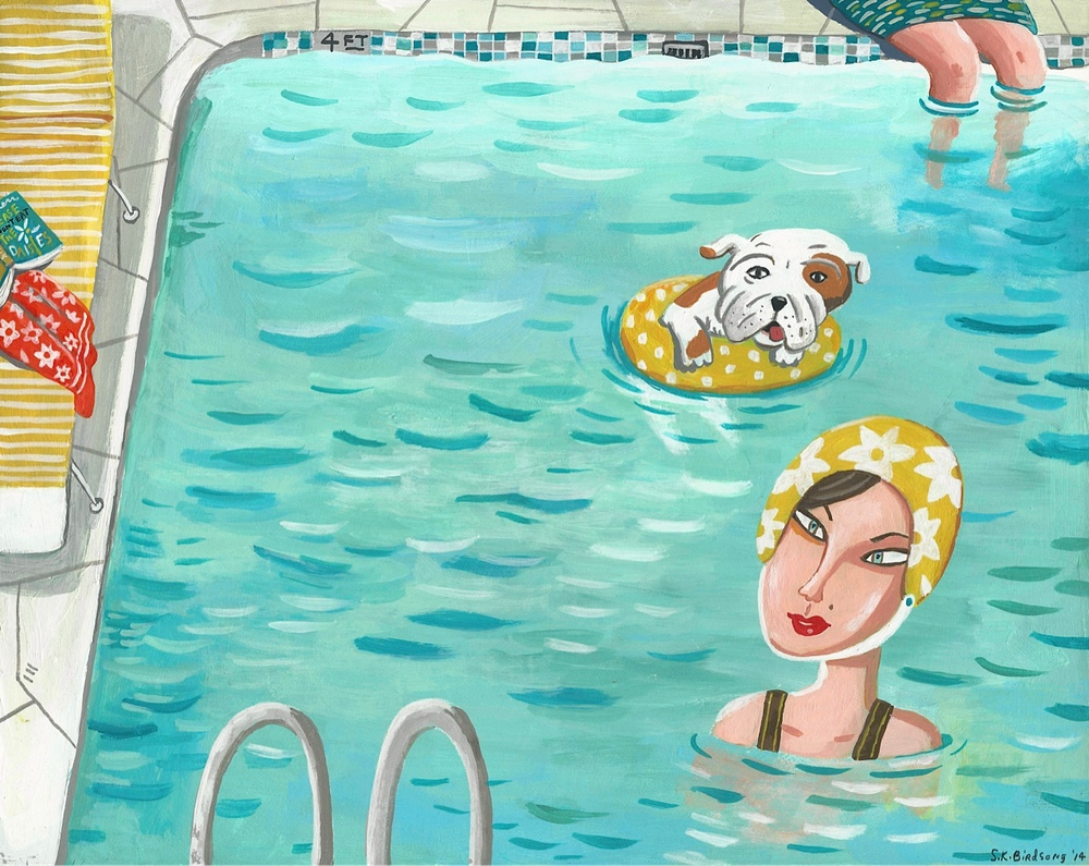 Miss Eve Hawkins & Tubby. Limited edition print available for a limited time on Etsy.