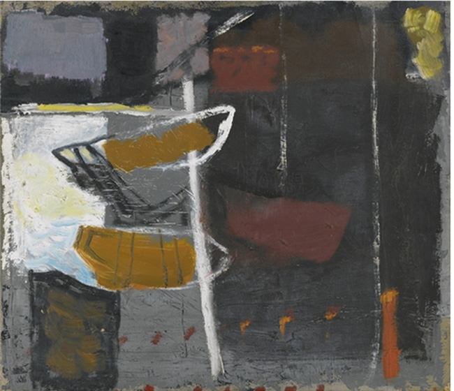 Untitled, 1956Oil on Canvas35.5 x 40.5 cms(13.95 x 15.92 in) via