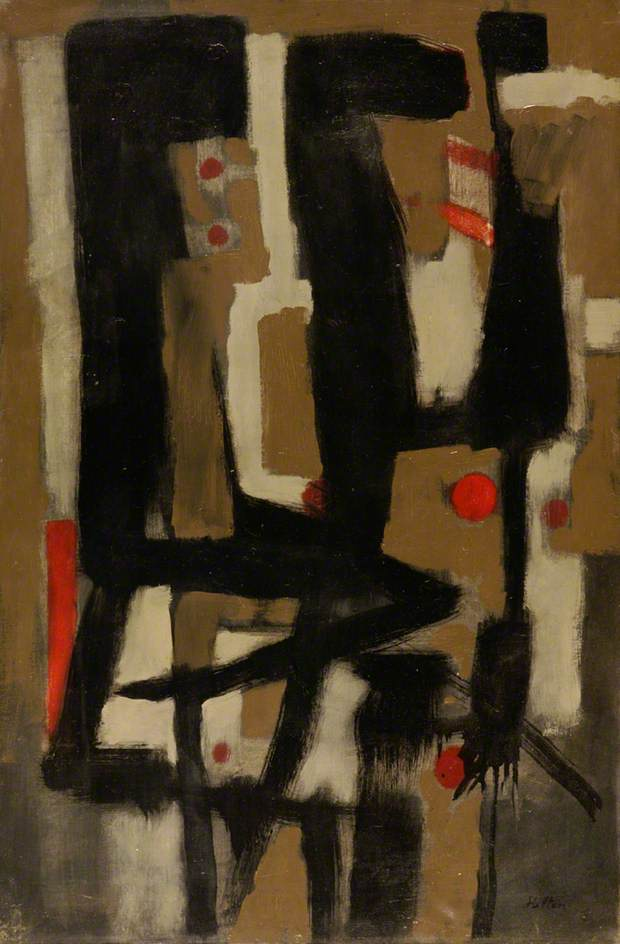 Roger Hilton | Composition II 1951via bbc.co.ukOil on canvas, 76.5 x 50.9 cmCollection:Southampton City Art Gallery