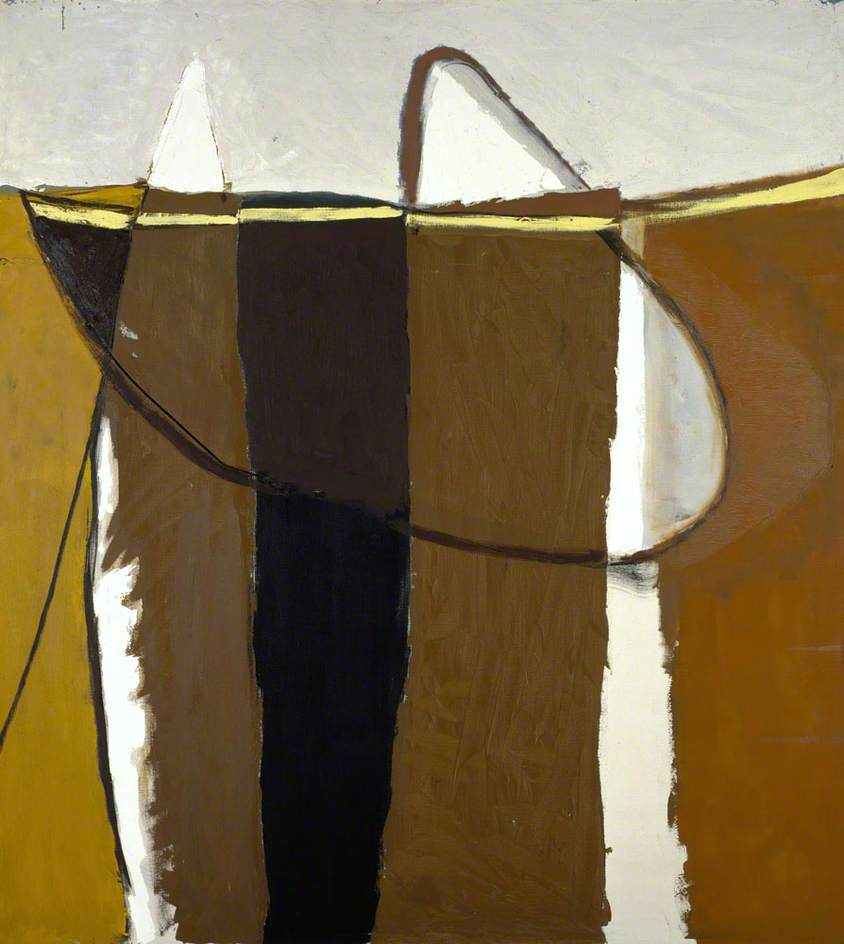 Palisade, August 1959 via bbd.co.uk Oil on canvas, 152.4 x 137.5 cm Collection: National Galleries of Scotland