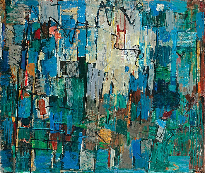 Yvonne AudetteStormy Waters1971-72oil on composition board86 x 101.5 cm