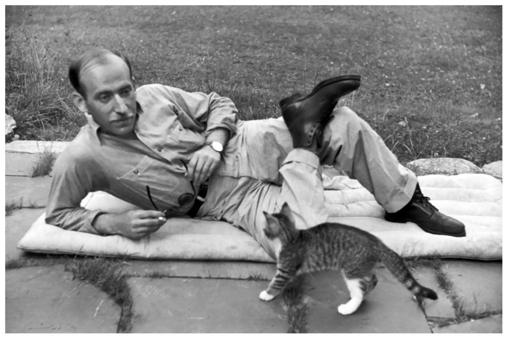 Henri Cartier-Bresson Saul Steinberg, Vermont (1947)