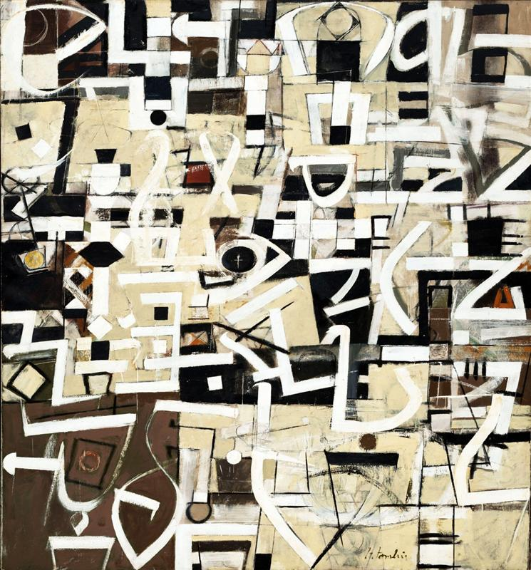 Number 20 by Bradley Walker Tomlin 1949 via  WikiArt