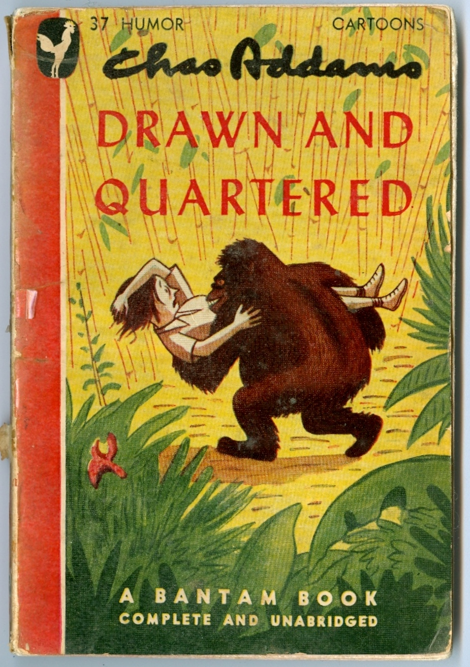 Drawn and Quartered 1946. This is the Bantam Book pocket edition of a popular Addams title. Foreward by Boris Karloff. via michaelmaslin.com