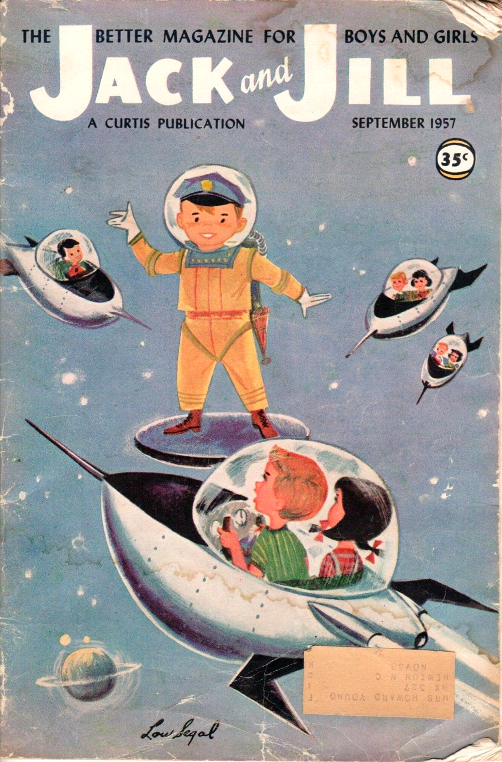 September 1957, Space policeman by Lou Segal via ebay