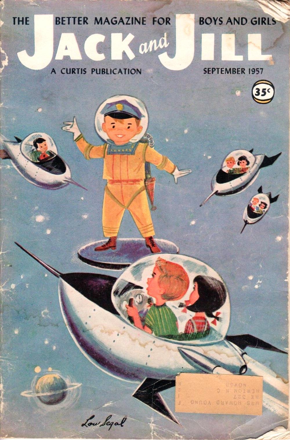 September 1957, Space policeman by Lou Segal via ebay