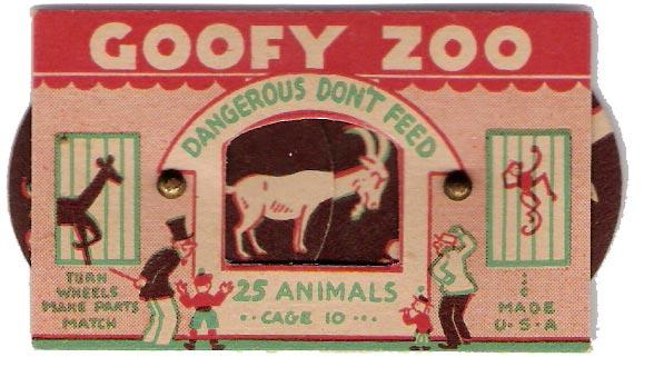 Goofy Zoo via  Present and Correct