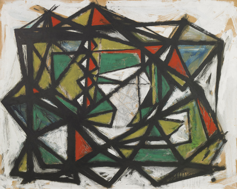 Untitled, 1949, Gouache on paper by William Gear via Anthony Hepworth Fine Art Dealer