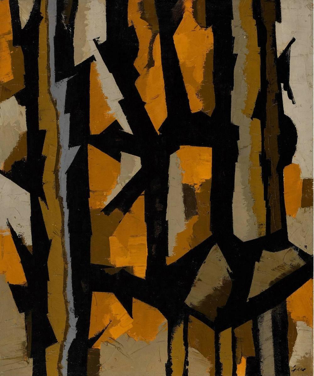 Autumn Study 1953 by William Gear via The Redfern Gallery