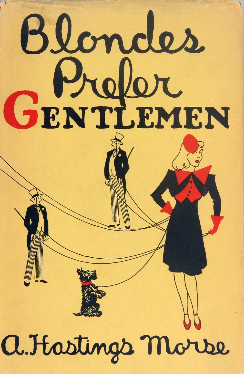 Morse, A. Hastings. Blondes Prefer Gentlemen. First Edition. 1938., Sold $475