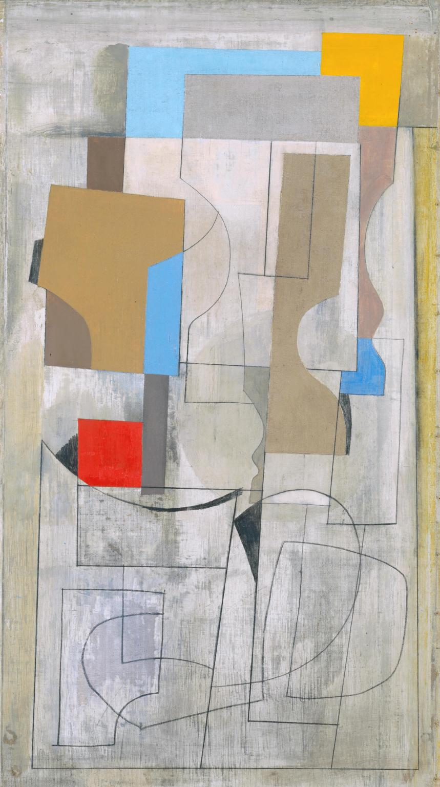 Feb 28-53 (vertical seconds) 1953 Ben Nicholson OM 1894-1982