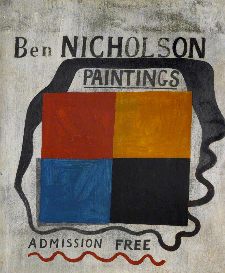 Exhibition sign painted by Nicholson 1933. From BBC.CO