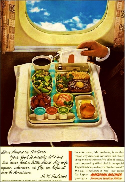 American Airlines Inflight Meal c.1960s.