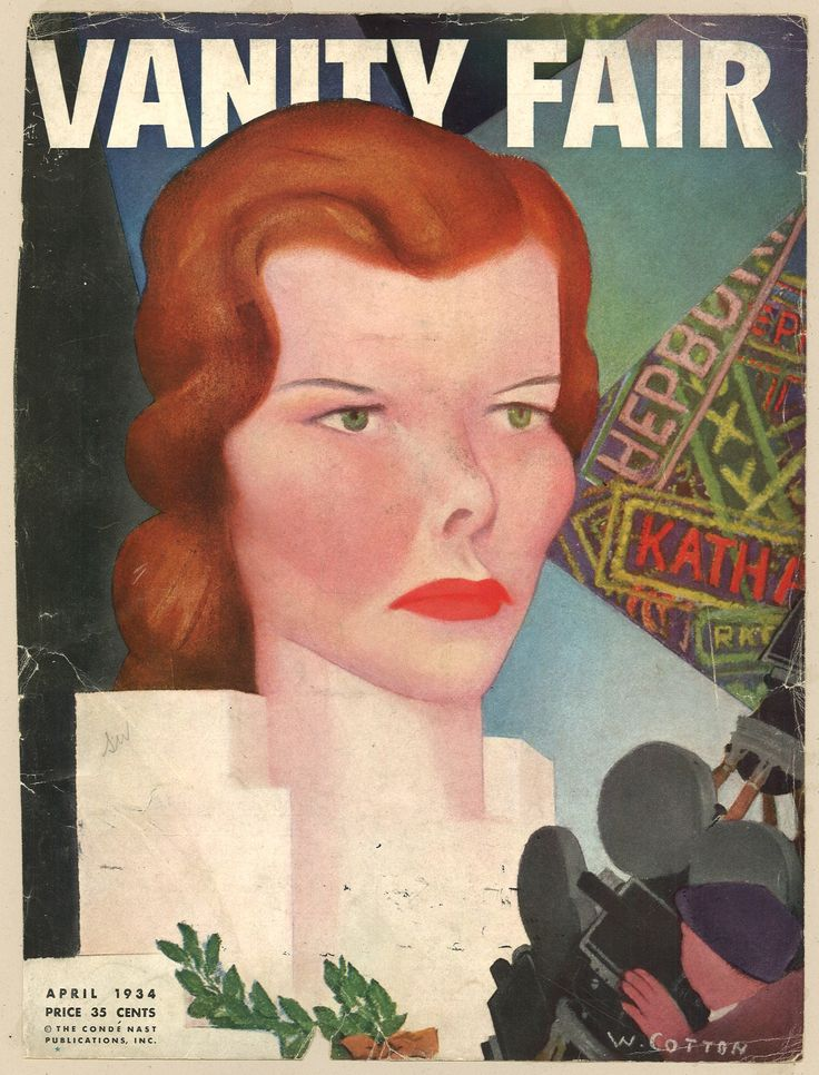 Vanity Fair April 1934, Katherine Hepburn